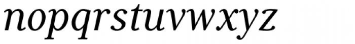 Generis Serif Com Medium Italic Font LOWERCASE