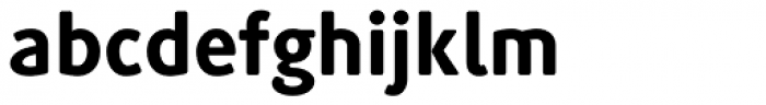 Generis Simple Pro Heavy Font LOWERCASE
