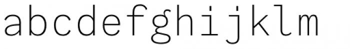 Generisch Mono Light Font LOWERCASE