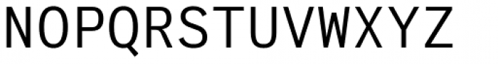 Generisch Mono Regular Font UPPERCASE