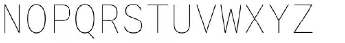 Generisch Mono Thin Font UPPERCASE