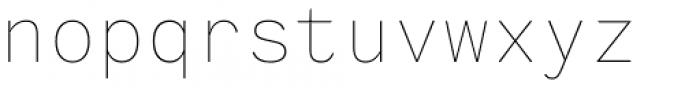 Generisch Mono Thin Font LOWERCASE