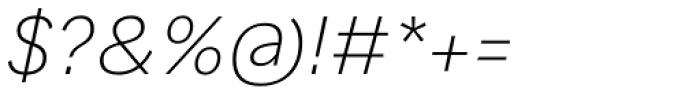 Generisch Sans Light Slanted Font OTHER CHARS