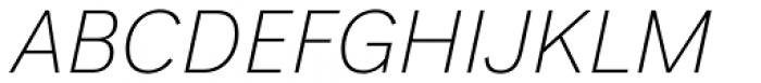 Generisch Sans Light Slanted Font UPPERCASE