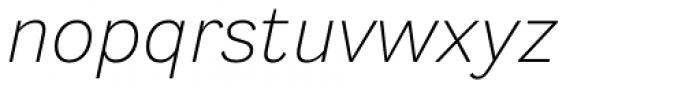Generisch Sans Light Slanted Font LOWERCASE