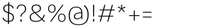 Generisch Sans Light Font OTHER CHARS