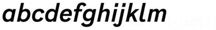 Generisch Sans Semi Bold Slanted Font LOWERCASE