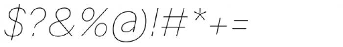 Generisch Sans Thin Slanted Font OTHER CHARS