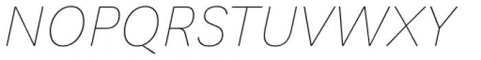 Generisch Sans Thin Slanted Font UPPERCASE