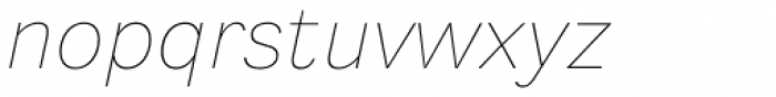 Generisch Sans Thin Slanted Font LOWERCASE