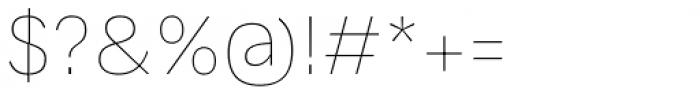 Generisch Sans Thin Font OTHER CHARS