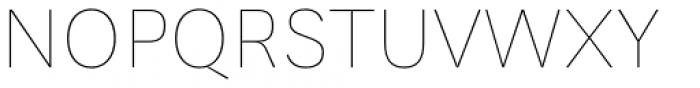 Generisch Sans Thin Font UPPERCASE