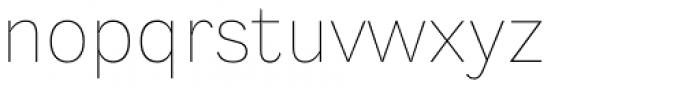 Generisch Sans Thin Font LOWERCASE