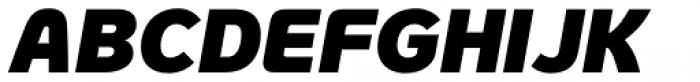 Genius Black Italic Font UPPERCASE