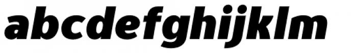 Genius Black Italic Font LOWERCASE