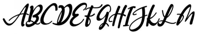 Gennie Italic Font UPPERCASE