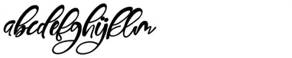 Gennie Italic Font LOWERCASE