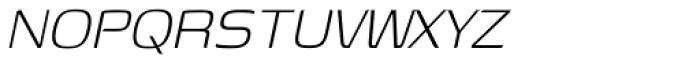 Genos Light Italic Font UPPERCASE