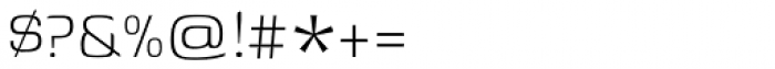 Genos Light Font OTHER CHARS