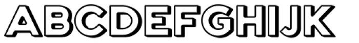 Genplan Pro Shadow Font UPPERCASE