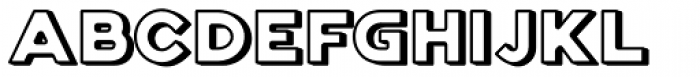 Genplan Pro Shadow Font LOWERCASE