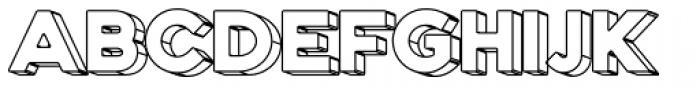 Genplan Pro Wireframe Font UPPERCASE