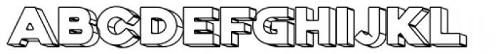 Genplan Pro Wireframe Font LOWERCASE