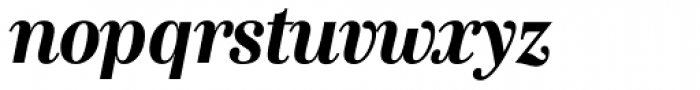 Genre Bold Italic Font LOWERCASE