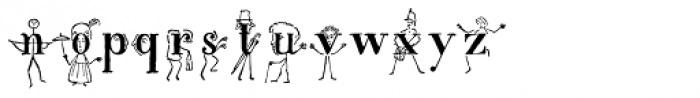 Gens De Baton Font LOWERCASE