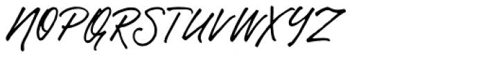 Gentlemens Script Font UPPERCASE