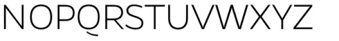 Gentona ExtraLight Font UPPERCASE