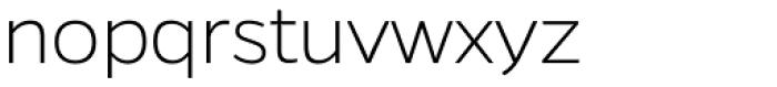 Gentona ExtraLight Font LOWERCASE