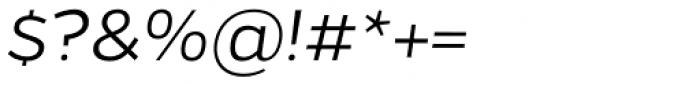 Gentona Light Italic Font OTHER CHARS