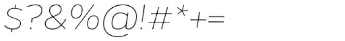 Gentona Thin Italic Font OTHER CHARS