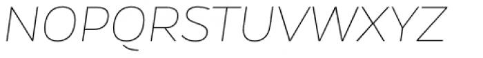 Gentona Thin Italic Font UPPERCASE