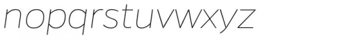 Gentona Thin Italic Font LOWERCASE