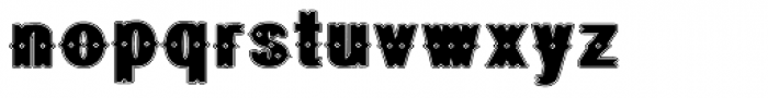 Geodec Bruce Ornamented Lined Font LOWERCASE