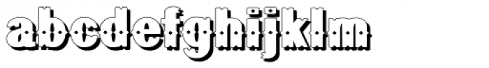 Geodec Bruce Ornamented Shadow Font LOWERCASE