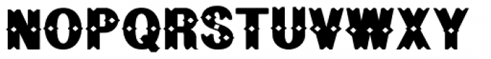 Geodec Bruce Ornamented Font UPPERCASE