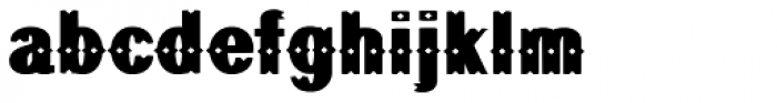 Geodec Bruce Ornamented Font LOWERCASE