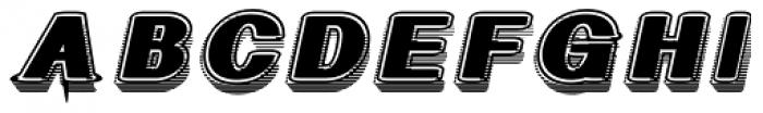 Geodec Fog Italic Font UPPERCASE