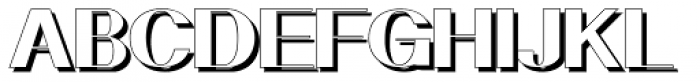 Geodec N9 Shadow Font UPPERCASE