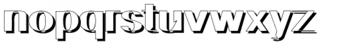 Geodec N9 Shadow Font LOWERCASE