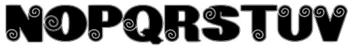 Geodec Spyral Lined Font UPPERCASE