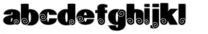 Geodec Spyral Lined Font LOWERCASE