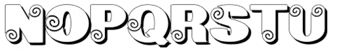 Geodec Spyral Shadow Font UPPERCASE