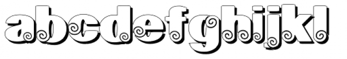 Geodec Spyral Shadow Font LOWERCASE