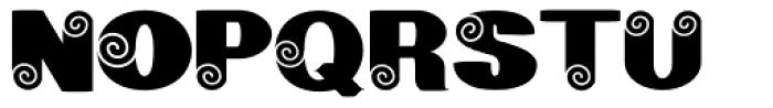 Geodec Spyral Font UPPERCASE