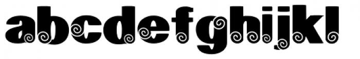 Geodec Spyral Font LOWERCASE
