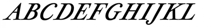 Geographica Italic Font UPPERCASE